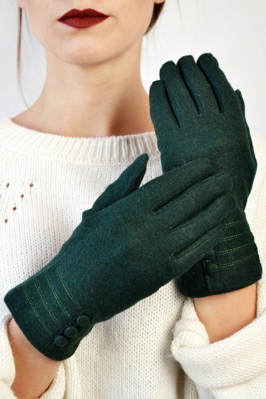 зеленые перчатки флис