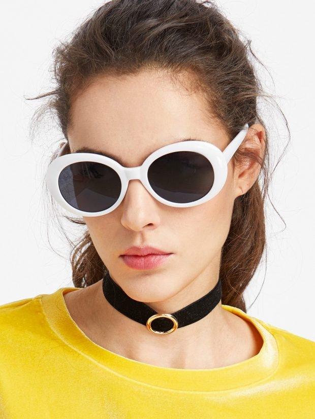 очки ретро белая оправа
