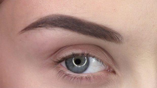 натуральные брови густые светлые четкие линии