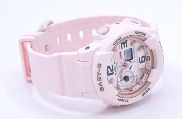 модные женские часы 2019 2020 нежно-розовые ремень каучук