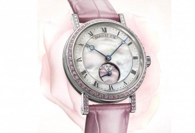 модные женские часы 2019 2020 сиреневые с серебристым циферблатом
