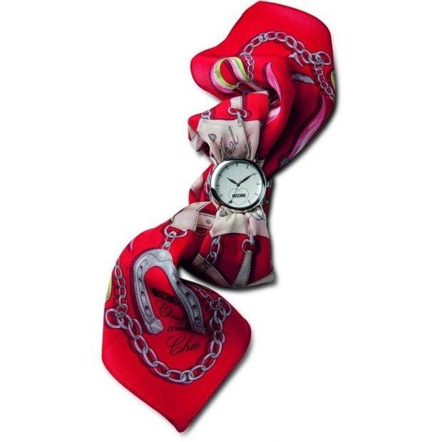 ремень платок красный с белым круглые