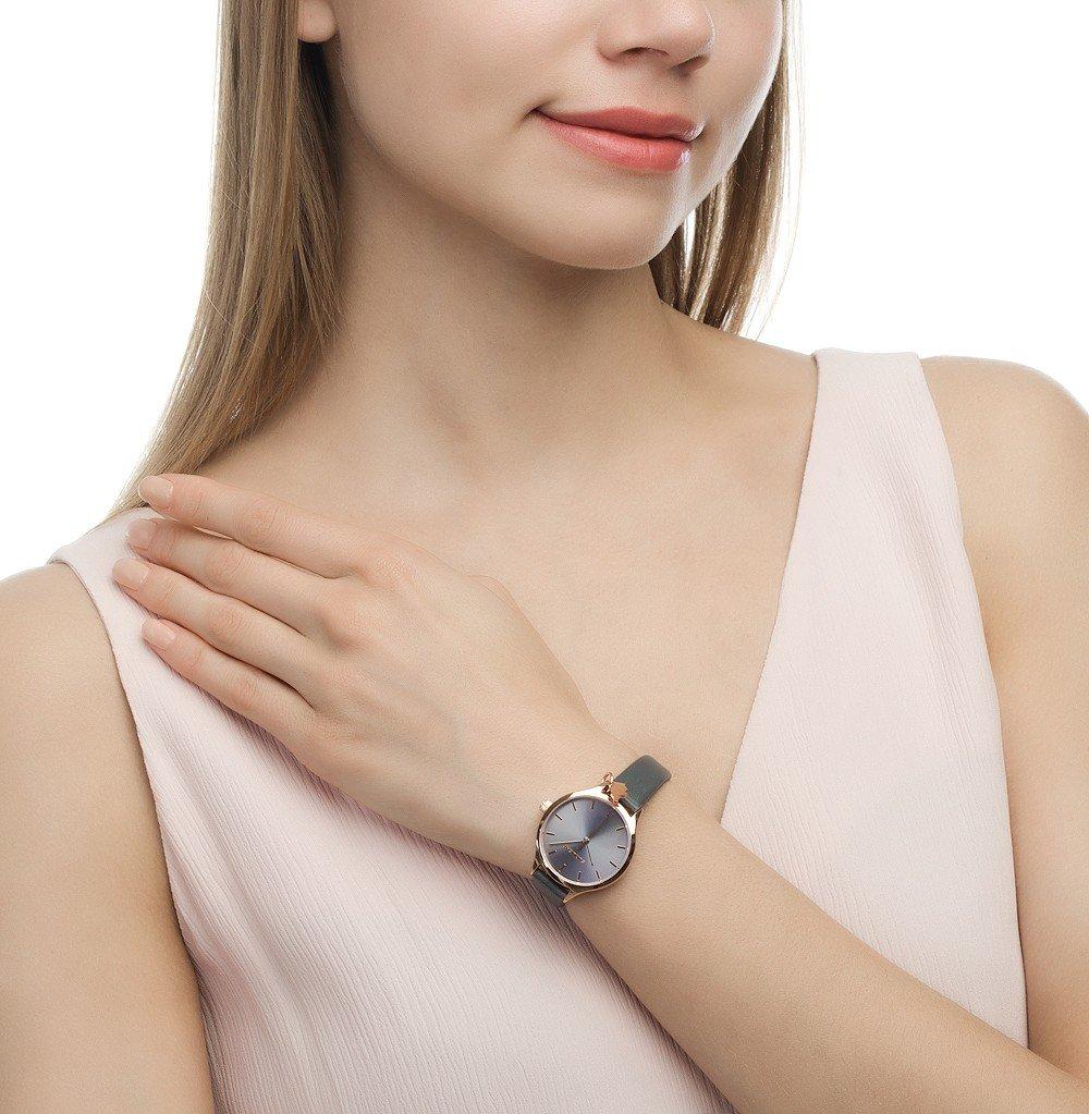 миниатюрные часы модные женские 2018 круглые серые