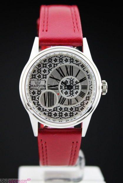 массивные часы модные женские 2018 2019 красный кожаный ремень циферблат оригинальный