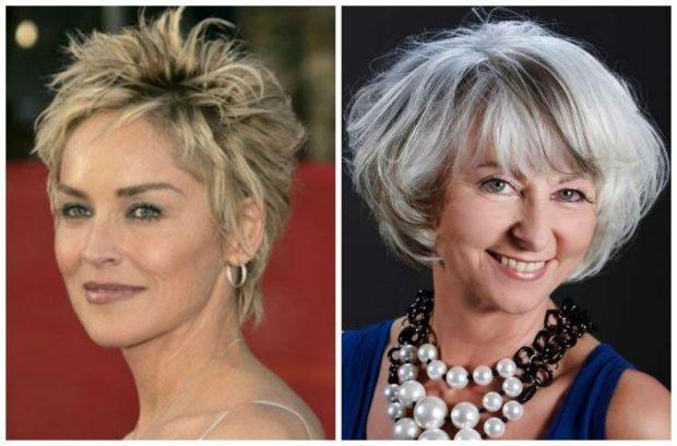 стрижки на короткие волосы 2019 2020 женские фото после 50 лет красивые: пикси каре-боб