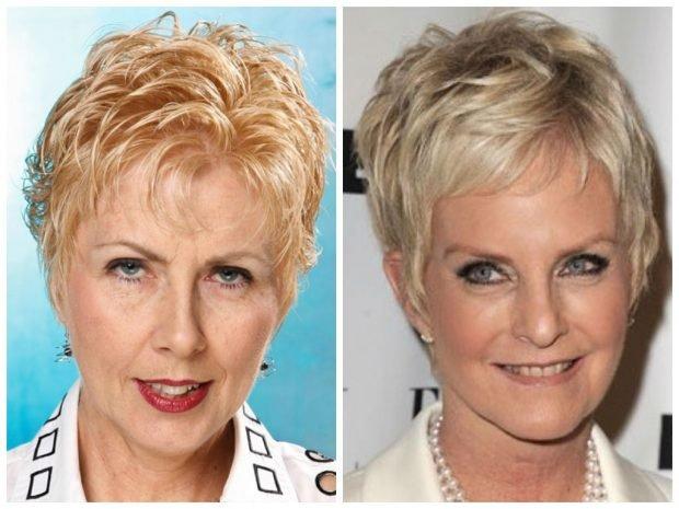 стрижки на короткие волосы 2019 2020 женские фото после 50 лет красивые: пикси с челкой