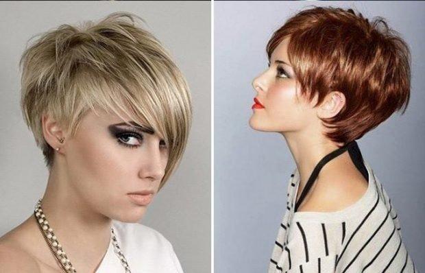 модная стрижка асимметрия с косой длиной челкой для женщины за 50 2019 2020