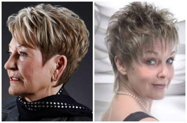 мода 2019 2020 года стрижка пикси с косой челкой с рваной ровной челкой для женщины за 50