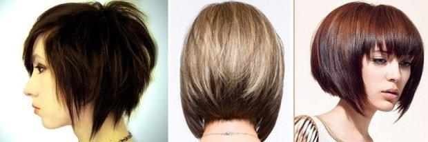 стрижка-боб с косой челкой с ровной челкой на короткие волосы для женщин за 30 2019 2020