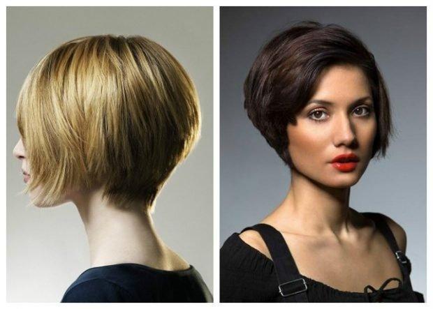 стрижка-боб без челки на короткие волосы для женщин за 30 2019 2020