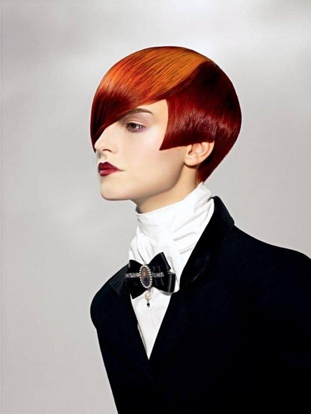 модная женская стрижка 2018 2019 сессон асимметрия на средние волосы