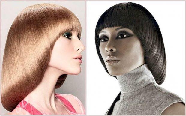 модная женская стрижка сессон 2018 2019 средняя длина волос короткая челка