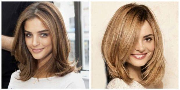 мода 2018 2019 женская стрижка каскад без челки на средние волосы