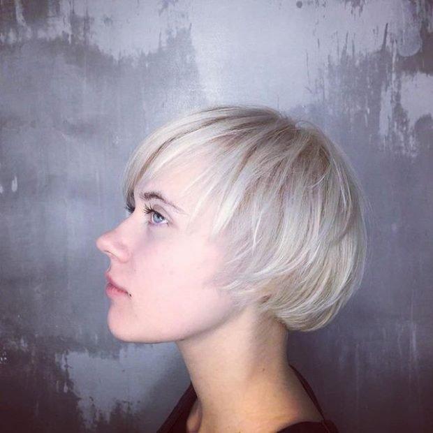 мода 2018 2019 женская стрижка текстурная средняя длина волос асимметрия