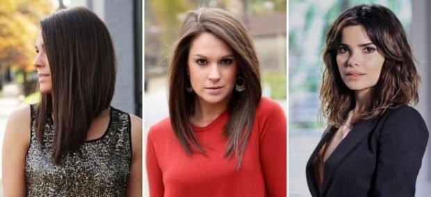 мода 2018 2019 года средняя длина волос женская стрижка боб