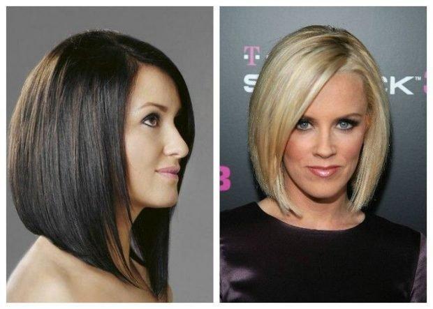 мода 2018 2019 года средняя длина волос боб женская стрижка