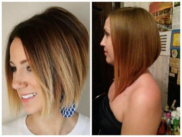 мода 2018 2019 года средние волосы стрижка женская боб
