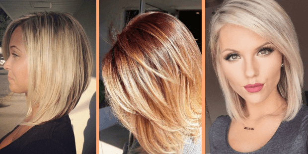 стрижка женская боб средней длины волос мода 2018 2019 года