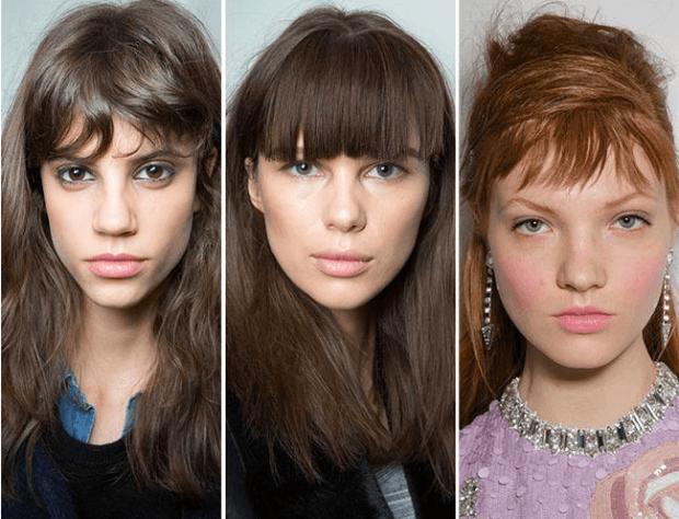 модная женская стрижка 2018 2019 года челка прямая ровная рваная на средние волосы