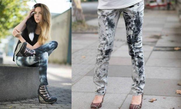 серые джинсы варенки