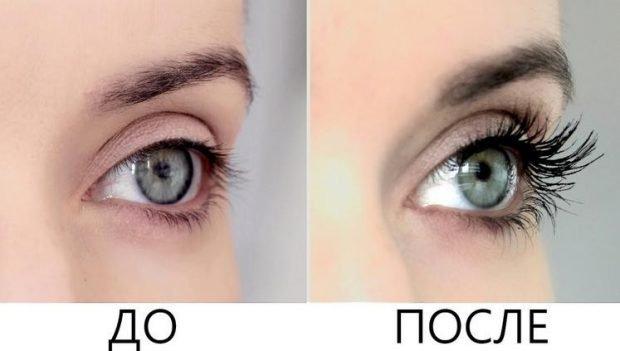 накладные ресницы на магнитах фото до и после