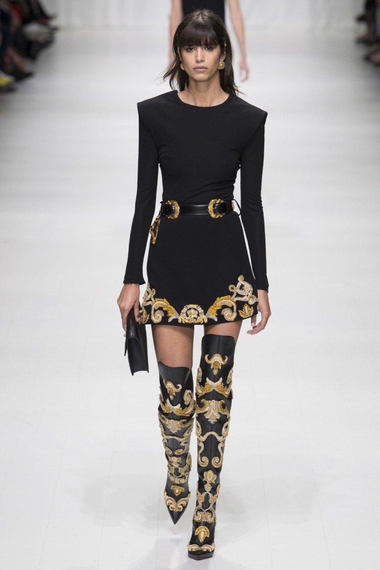 платье черное с золотом под пояс