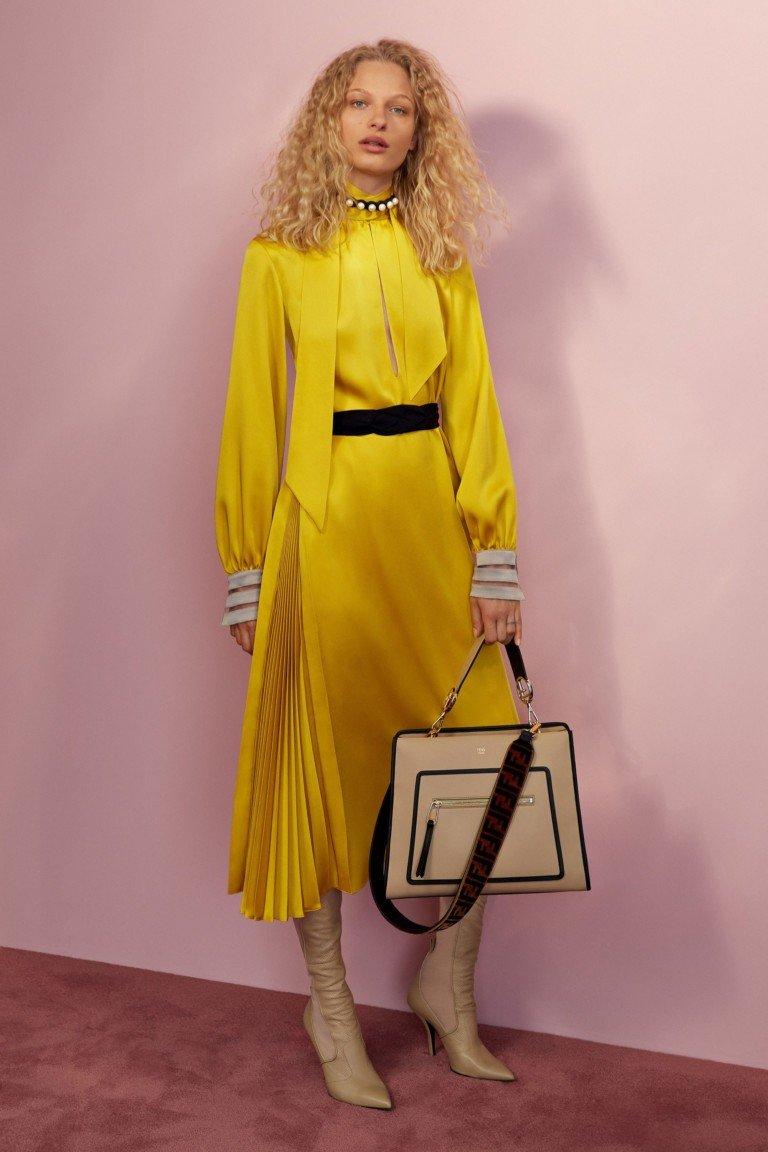 желтое платье атлас