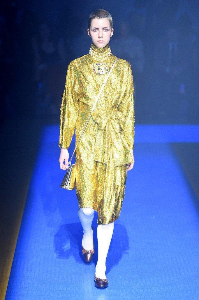 золотая юбка и жакет