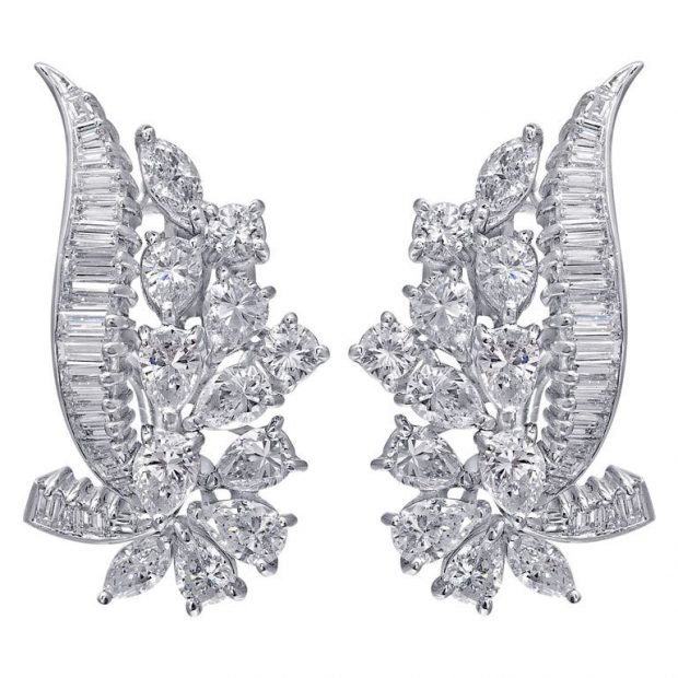 сережки серебро массивные с камнями 2018 2019