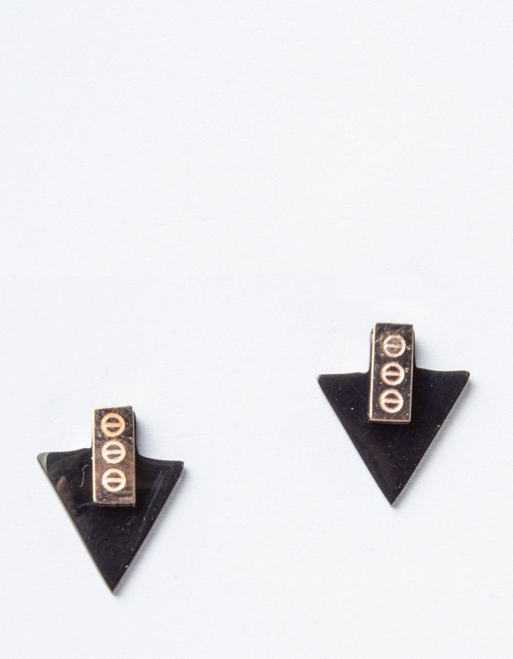 сережки треугольники черные