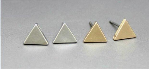 сережки-гвоздики треугольники