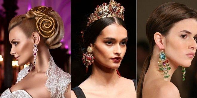Модные серьги 2018 2019 фото на ушах: золото, в виде кольца, в виде кисти, модные тенденции
