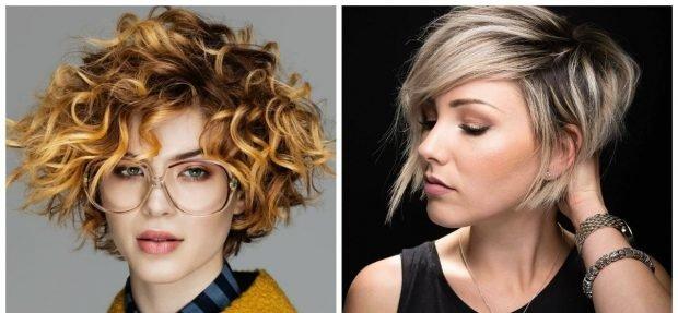 укладка волос 2018 2019 - стрижка короткая с локонами боб классический