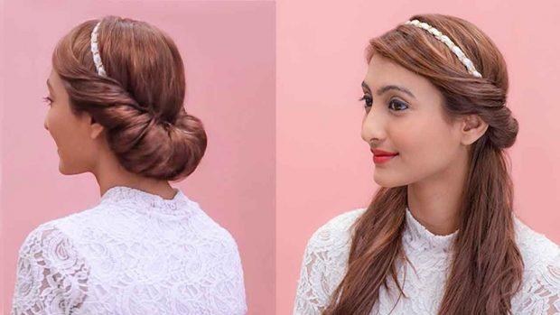 укладка греческий стиль волосы собраны распущенные волосы