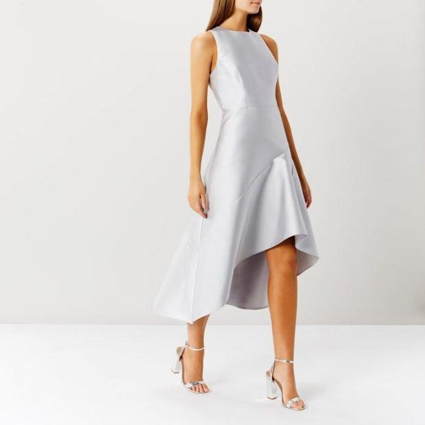 вечерние платья 2019 2020: светлое асимметрия без рукава