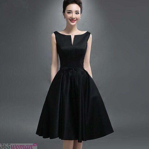 вечерние платья 2018 2019 фото новинки: короткое черное юбка пышная мода