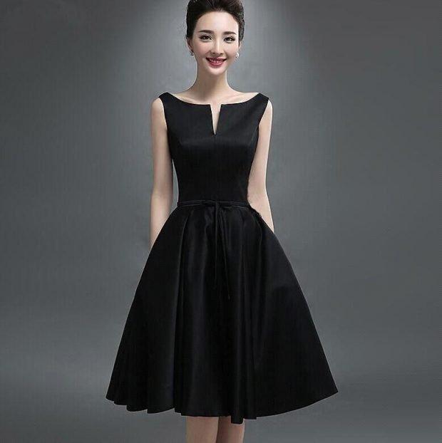 вечерние платья 2019 2020 фото новинки: короткое черное юбка пышная мода