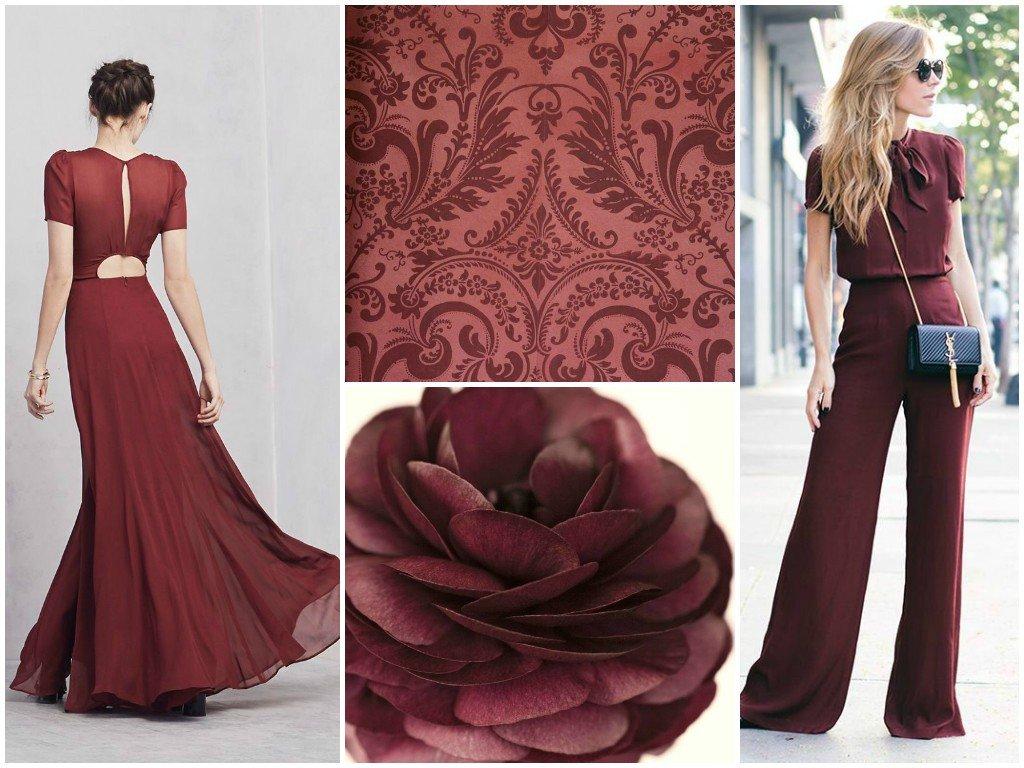 платья цветом марсала