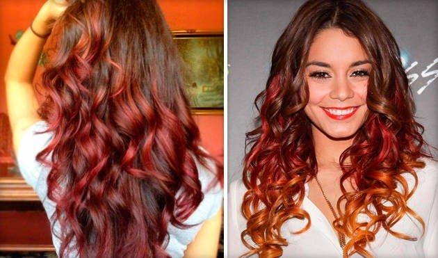 окрас волос бордо цветом марсала