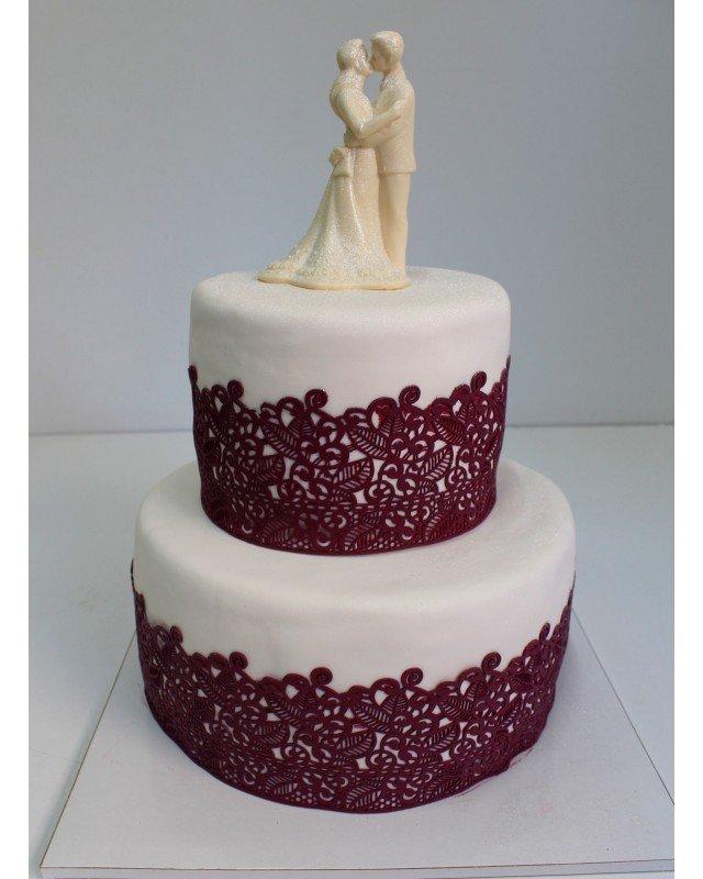 кружевные украшения для торта