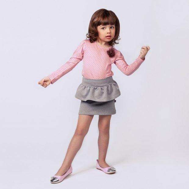 детская юбка серого цвета