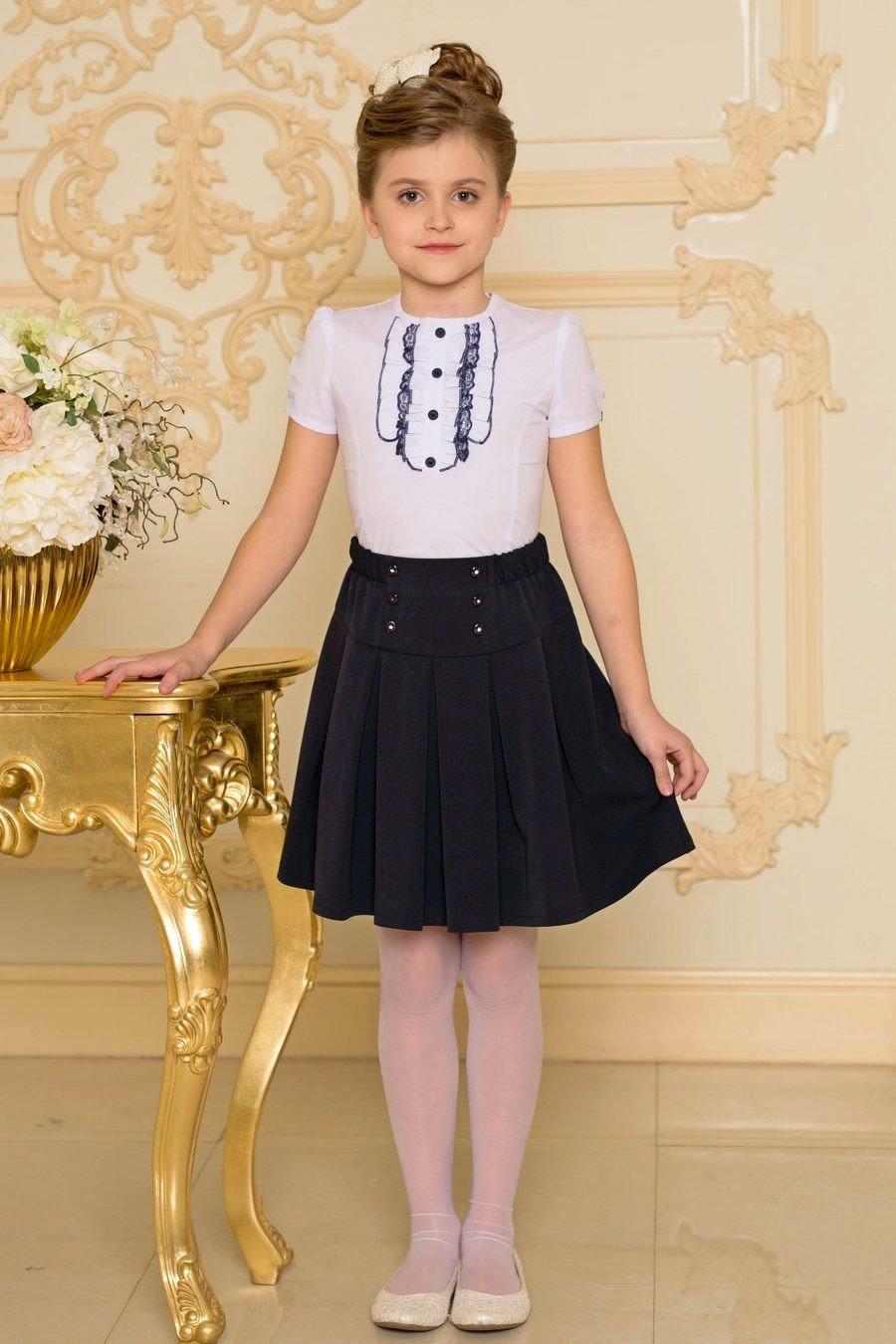 детская юбка классическая черная