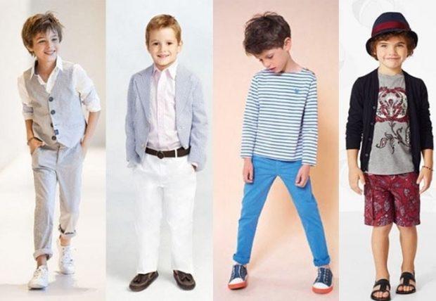 Детская мода 2019 2020: серые брюки и жакет белые брюки синие бордовые бриджи