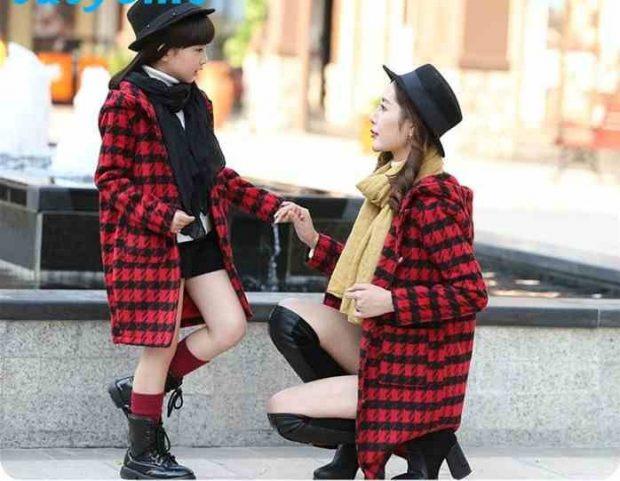детское клетчатое пальто