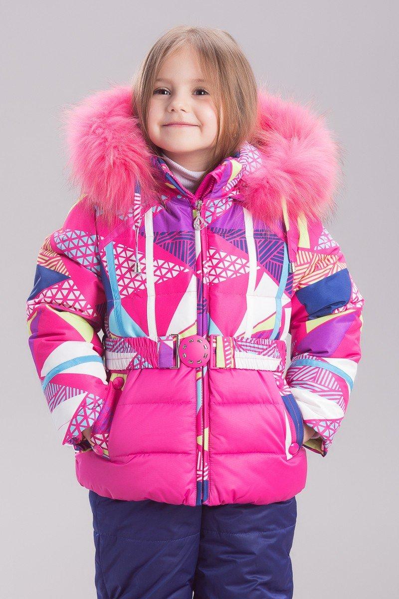 детская зимняя куртка в принт