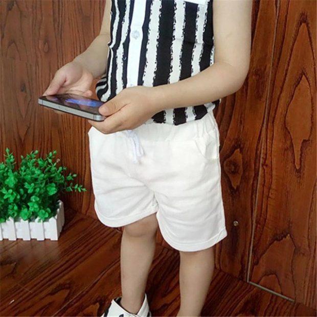 детские белые шорты