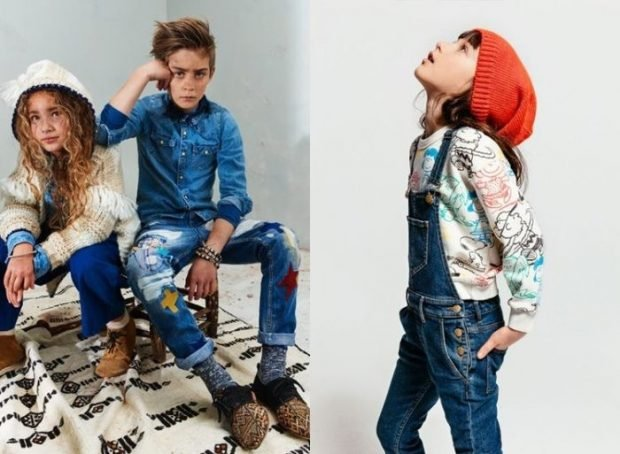 Детская мода 2019 2020: синие джинсы джинсовый комбинезон