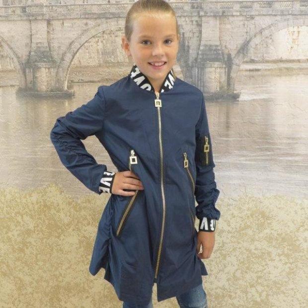 удлиненная курточка детская