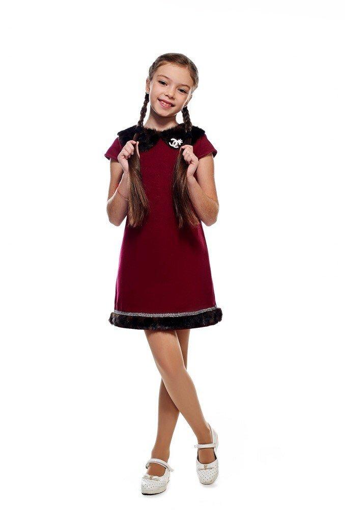 бордовое платье детское