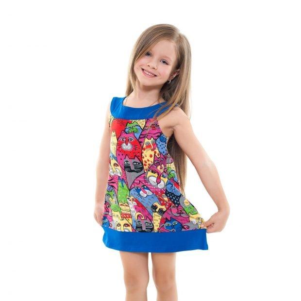 детское платье в принт